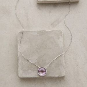 Anthropologie Pink Amethyst Pendant Necklace